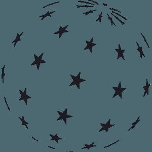 מדבקת קיר כוכבים בתלת מימד
