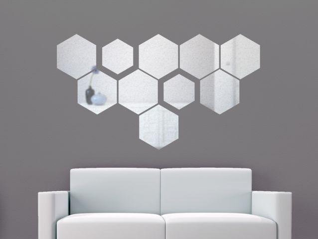 מדבקת קיר | דמוי מראה | כוורת