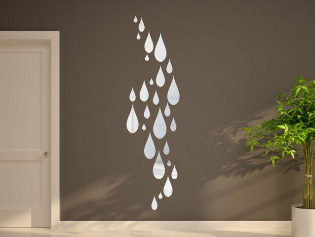 מדבקת מראה של טיפות הגשם