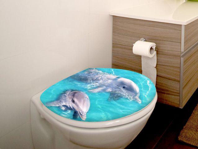 מדבקה לאסלה דולפינים חמודים