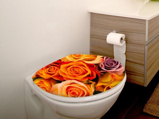 מדבקה למכסה אסלה | ורדים