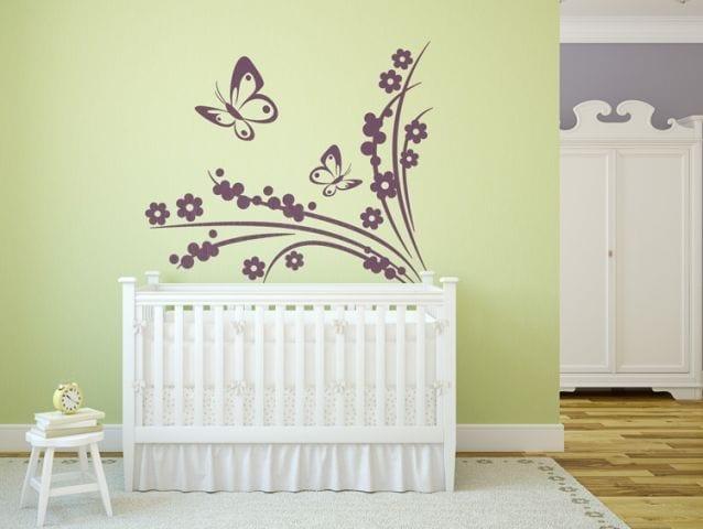 מדבקת קיר | פרחים עדינים