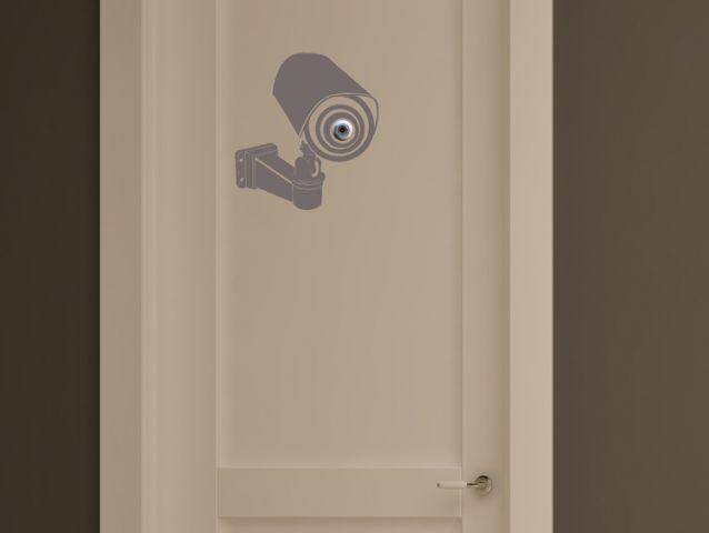 מדבקת קיר | מצלמת ריגול