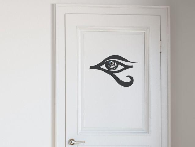 מדבקה לדלת | עין מצרית