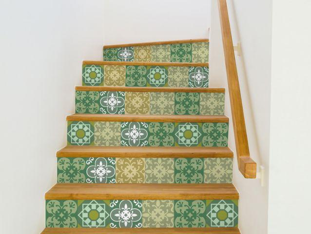 מדבקות למדרגות   ירוק עתיק