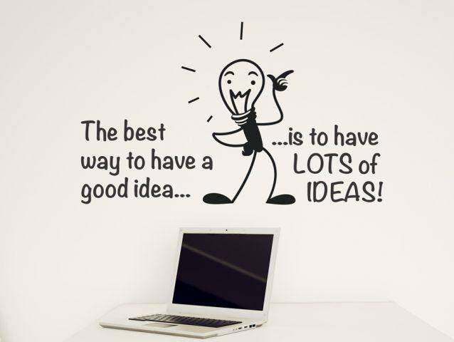 מדבקת הסוד של רעיון טוב