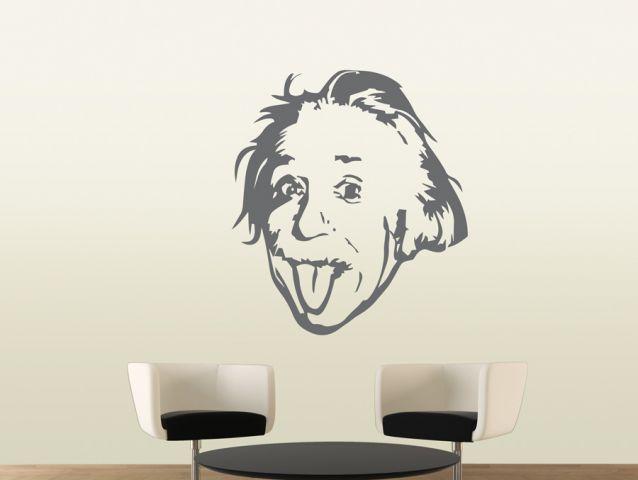 מדבקת קיר אינשטיין