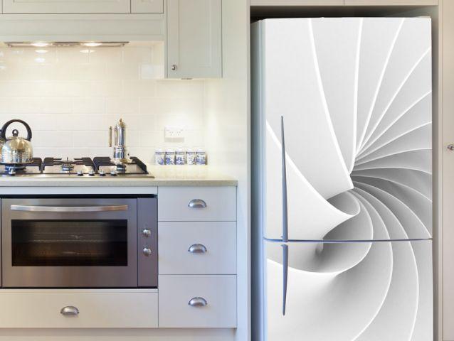 טפט ספירלה לבנה למקרר