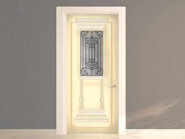 מדבקה לדלת בסגנון יווני עתיק שמנת