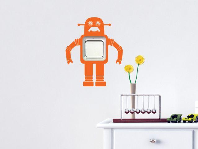 מדבקה למתג | רובוט