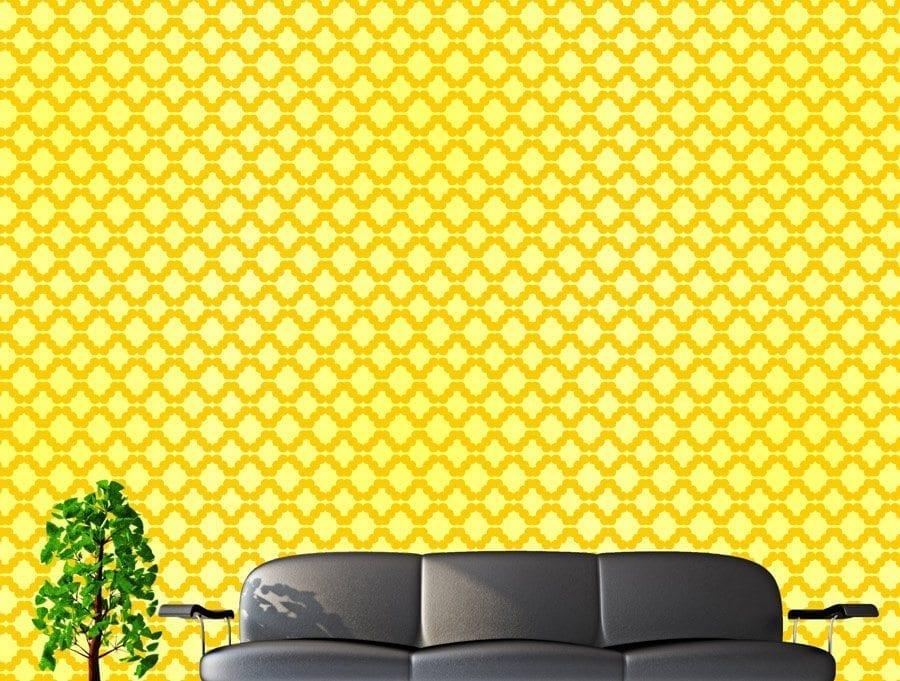 טפט צהוב גיאומטרי