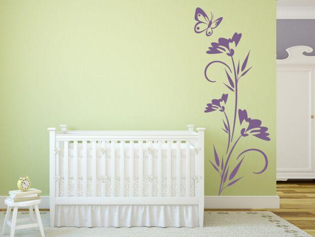 מדבקת קיר | פרח עדין