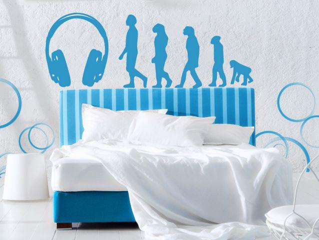 מדבקת קיר אבולוצית המוזיקה