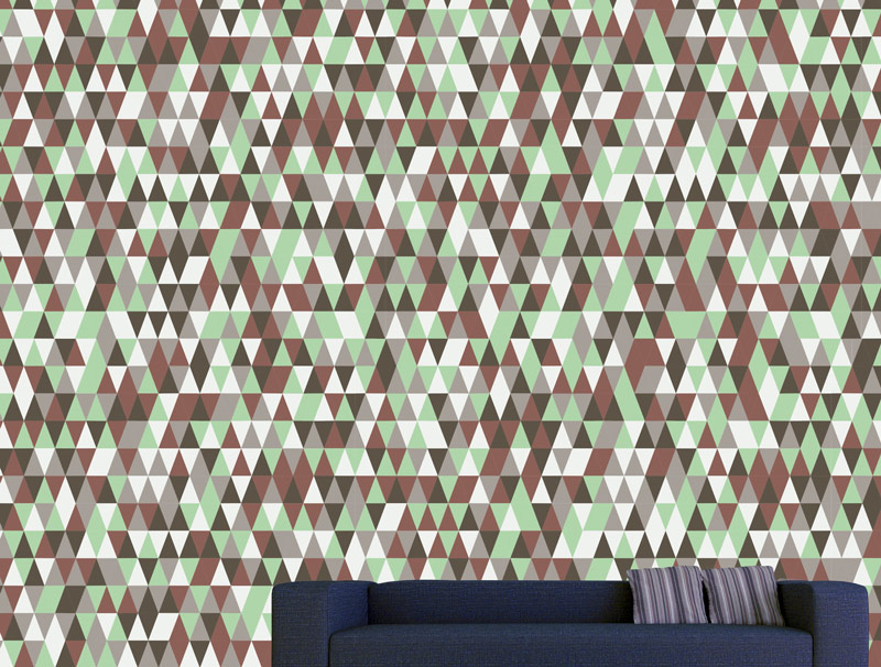 טפט קיר - משולשי טבע