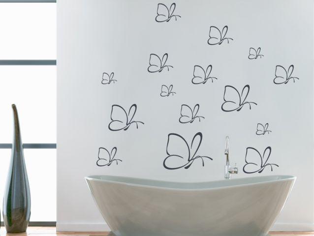 סט מדבקות קיר | פרפרים