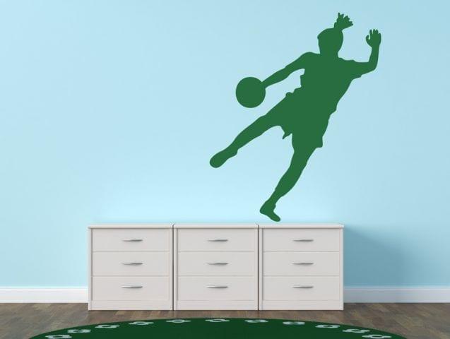 מדבקת קיר | שחקן כדורגל