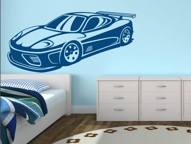 מדבקת קיר | מכונית מירוץ