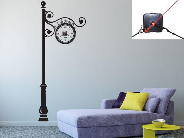 מדבקת קיר | שעון רחוב