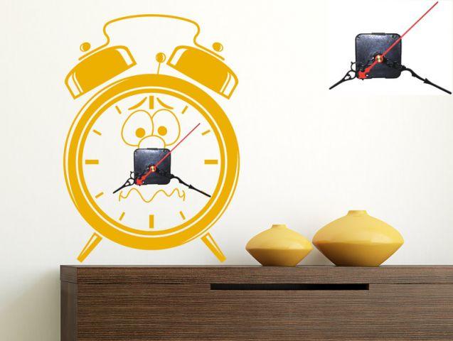 מדבקת קיר | שעון מפוחד
