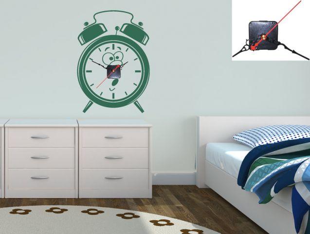 מדבקת קיר | שעון מעורר