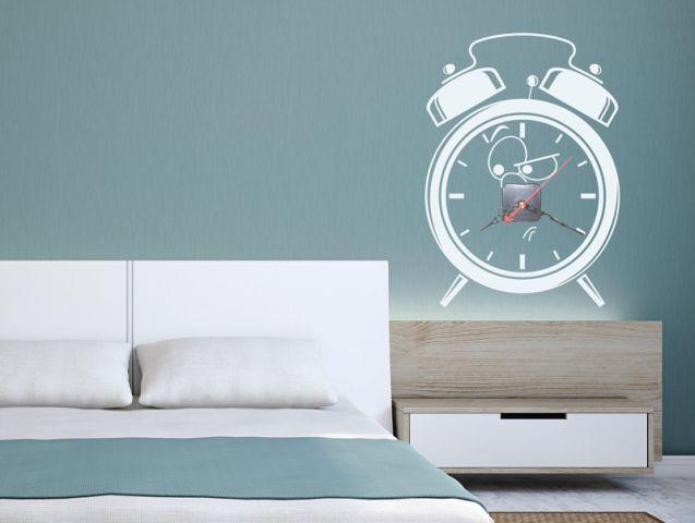 מדבקת קיר | שעון עצבני
