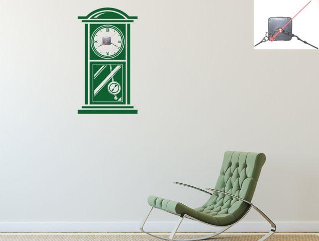 מדבקת קיר | שעון רטרו
