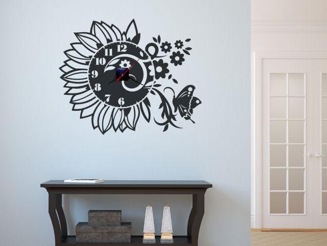 מדבקת קיר | שעון חמניה