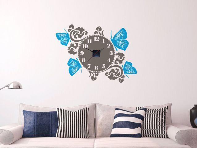 מדבקת קיר | שעון אביבי