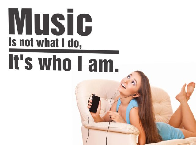 מדבקת קיר | מוסיקה זה מי שאני