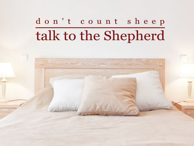 מדבקת קיר אל תספור כבשים