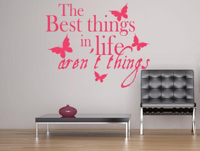 מדבקת קיר הדברים הכי טובים בחיים