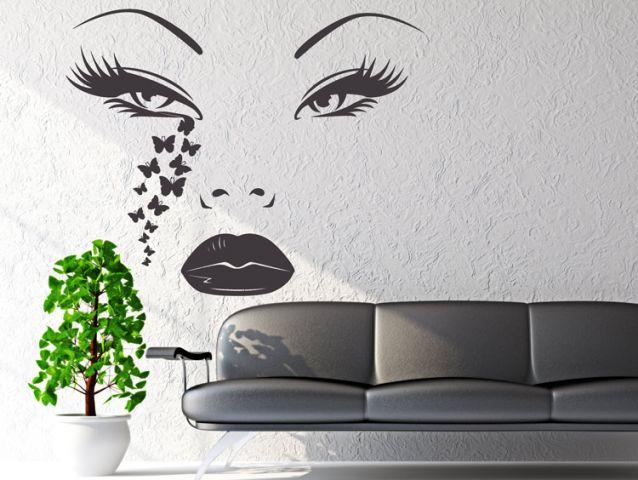 מדבקת קיר | דמעות פרפר