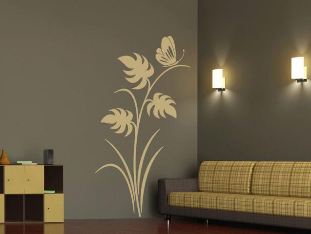 מדבקת קיר | פרפר בסתיו
