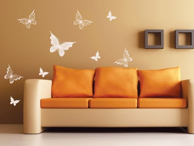 סט מדבקות קיר | פרפרים בתפזורת