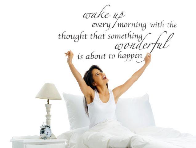 מדבקת קיר תתעורר כל בוקר