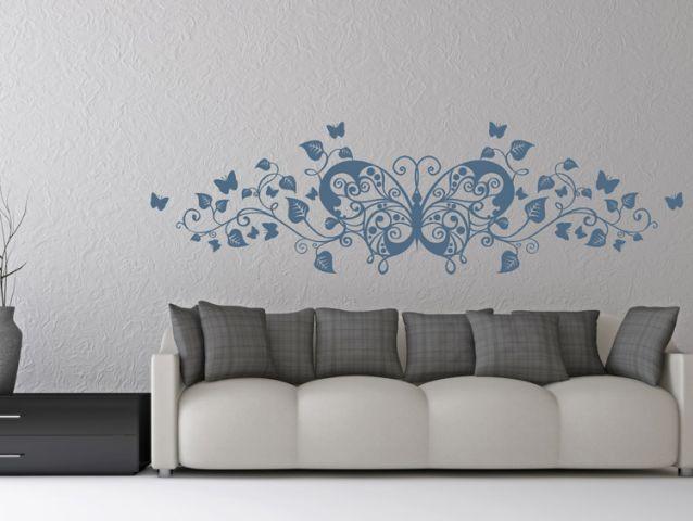 מדבקת קיר | פרפר מקושט