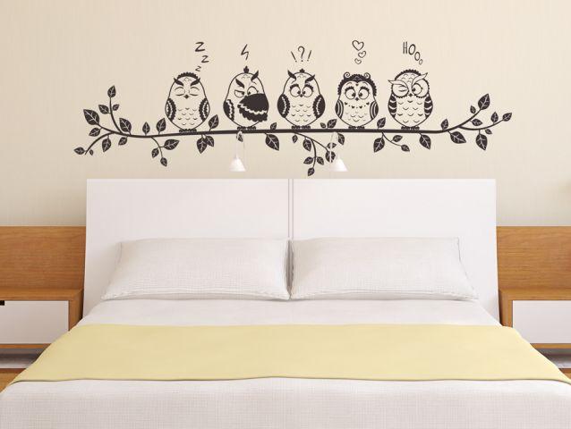מדבקת קיר   משפחת ינשופים