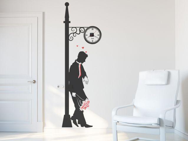 מדבקת קיר | שעון זמן לאהבה