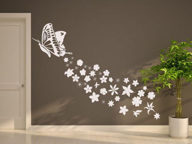 מדבקת קיר | מעוף פרחוני