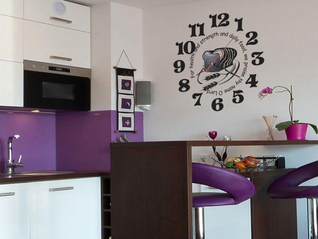 מדבקת קיר | שעון ברכת המזון