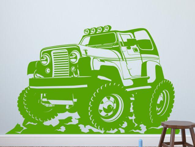 מדבקת קיר ג׳יפ 4x4