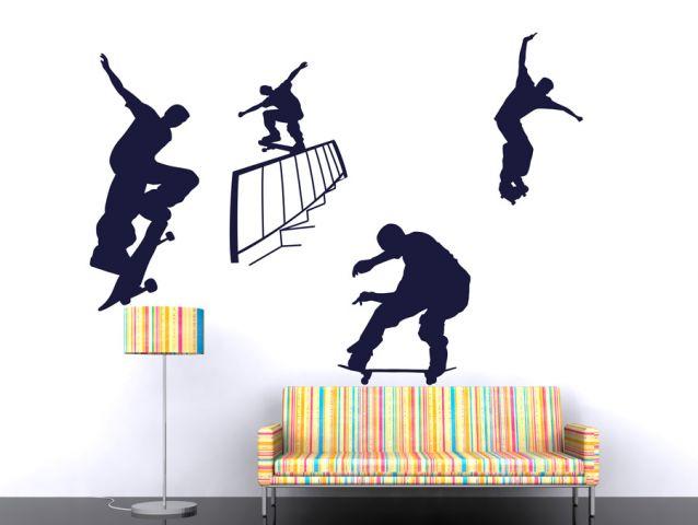 מדבקת קיר | פעלולי סקייטבורד