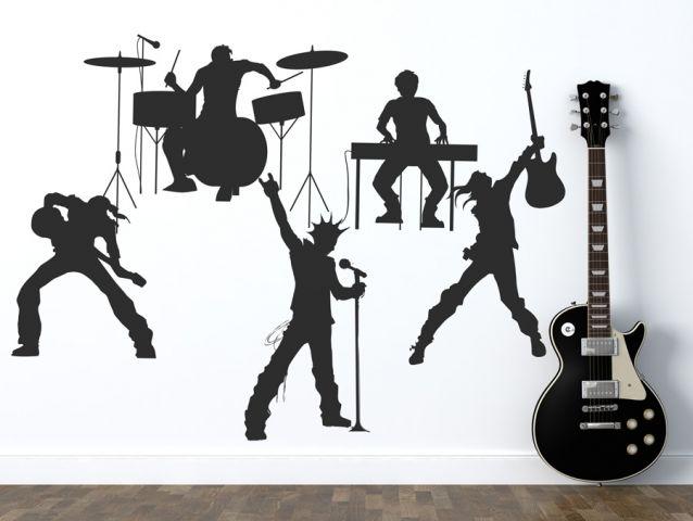 מדבקת קיר להקת רוק