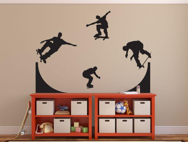 מדבקת קיר | סקייטרים