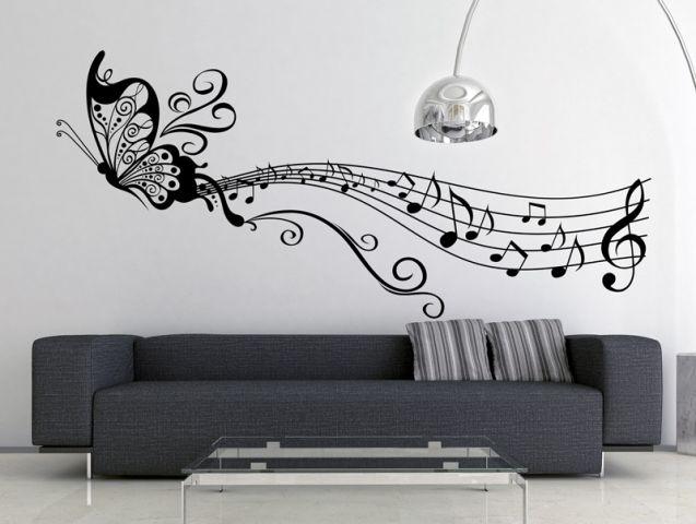 מדבקת קיר | פרפר מזמר