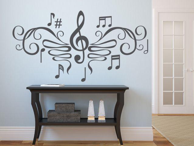 מדבקת קיר | פרפר המוסיקה