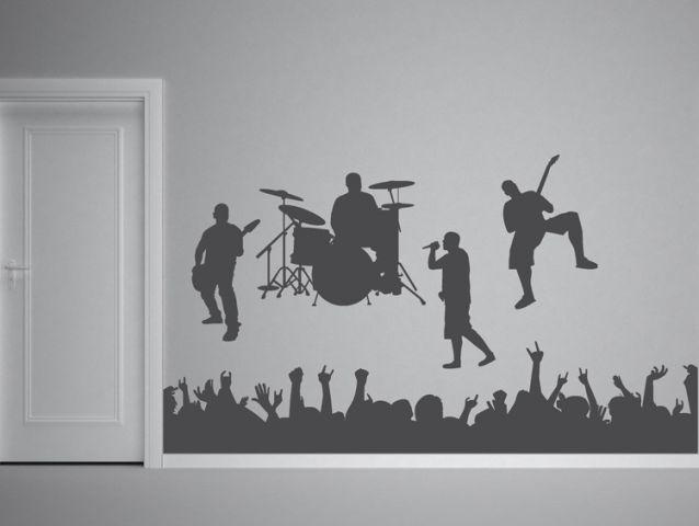 סט מדבקות קיר | להקת רוק