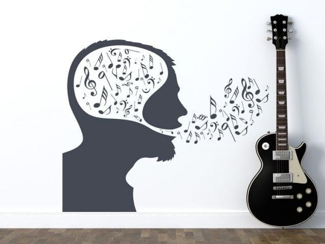 מדבקת קיר | מוח מוסיקלי