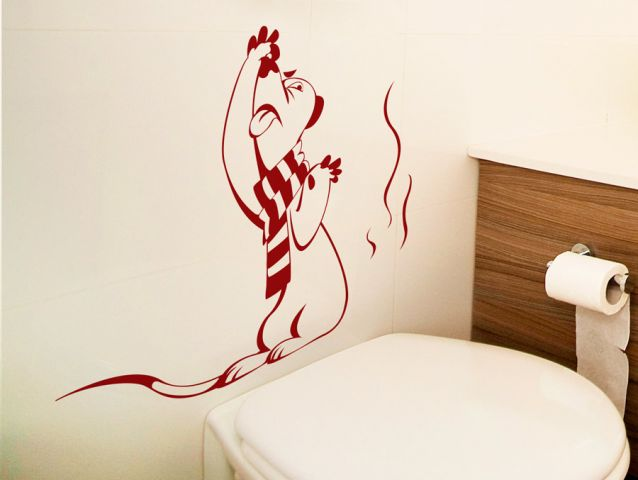 מדבקת קיר | יצור בשירותים