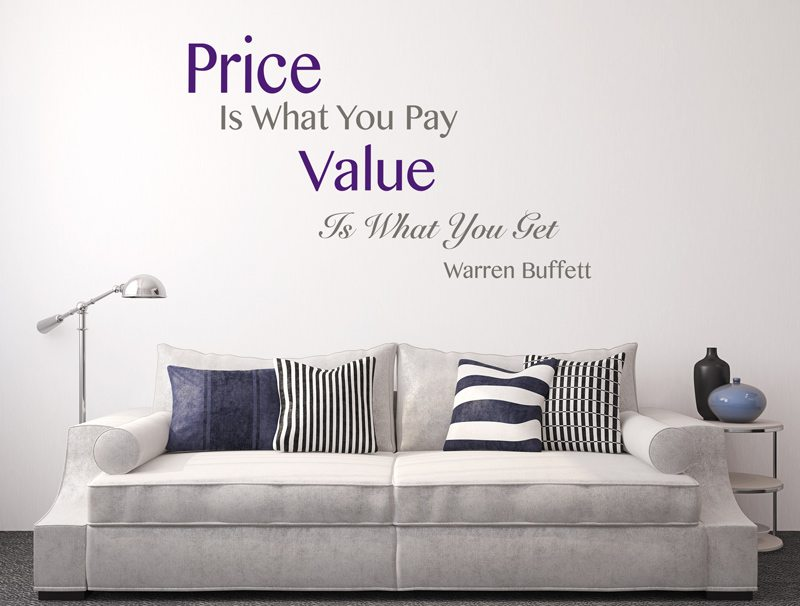 מדבקת קיר | מחיר וערך